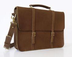 Leather Messenger/Laptop Bag 15 Male/Female by BasAder on Etsy, $220.00