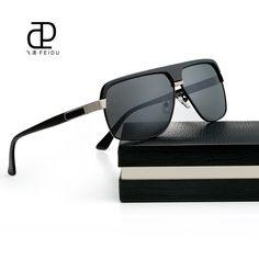 FEIDU Brand Polarized Sunglasses Men Alloy Frame Sun glasses High Quality Vintage  Retro Eyewear For Male Gafas De Sol With Box 3b4c6cc8a47