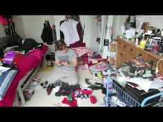 Video of a messy room