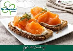 A Taste of Ireland McCambridge Irish Soda Bread with Smoked Salmon - Irish food in USA! Soda Bread, Irish Recipes, Smoked Salmon, Spanakopita, Pineapple, Ireland, Usa, Fruit, Ethnic Recipes
