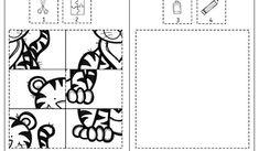 Tierpuzzles, Tiere, Ausschneiden, kleben, ausmalen, Feinmotorik, Legasthenie, Dyskalkulie, Kinder, Vorschule, Grundschule, Förderschule, Eltern, kostenlos