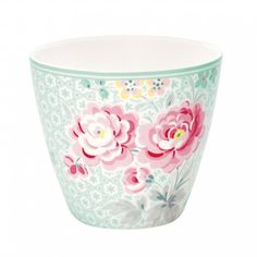 Kubek do kawy latte Lulu Mint od Green Gate Shabby Chic Kitchen Accessories, Lampshade Kits, Latte Cups, Rowan Yarn, Mint, Vintage Kitchenware, Vintage Decor, Ceramic Art, Decoration