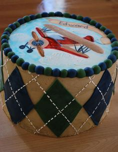 Baby shower cake for boy since this will be what is in his room. @Amanda Magee