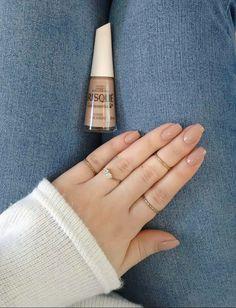 Ideas for fashion art makeup nail polish Make Up Inspiration, Nails Inspiration, Nail Ring, Manicure And Pedicure, Cute Nails, Pretty Nails, Milky Nails, Formal Nails, Minimalist Nails