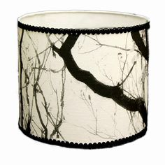 Drum fabric lampshade handmade 10x8.5 H. black by Gingerartlamps, $120.00