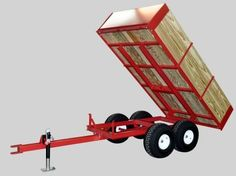 Utility Dump Wagons & Trailers for ATV, lawn and garden, Compact and Subcompact Utility Tractors by CMI.