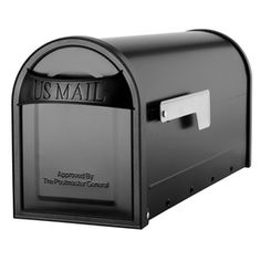 Architectural Mailboxes�6-5/8-in x 8-3/4-in Metal Black Post Mount Mailbox