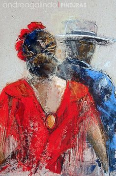 Andrea Galindo. Pintura: A LA GRUPA Ballerina Art, Couple Art, Figure Painting, Victorian Fashion, Watercolor Art, Texture, Deco, Drawings, Artist