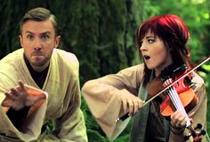 Lindsey Stirlng and Peter Hollens serve up an awesome medley of songs the we all know and love from the Star Wars movies for Geek Week.  #lindseystirling #starwars #peterhollens  #geekweek