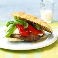 """5 STAR: Portobello Burgers --  We love these as a heart healthy alternative to the """"moo"""" kind of burgers. I spread the bread with garlic infused olive oil...and sometimes use mozzerella instead of provolone. SO yummy!"""