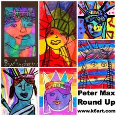Explore this interactive image: Peter Max Statue of Liberty Round Up by Rina www.k6art.com