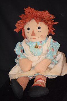 Old Doll Raggedy Ann Johnny Gruelle's Own Cloth Doll Johnny Gruelle Rag Doll