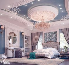 29 Ideas Luxury Bedroom Design Mansions For 2019 Luxury Bedroom Design, Luxury Home Decor, Luxury Interior, Home Interior Design, Interior Logo, Interior Plants, French Interior, Classic Interior, Cafe Interior