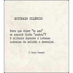 ESTIMADO SILÊNCIO - Saulo Pessato