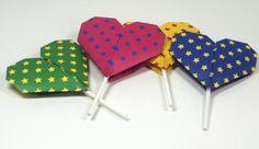 Make sweet origami lollipop covers
