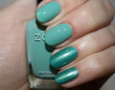 Zoya Nail Polish in Wednesday and Zuza. Love that they're non toxic!