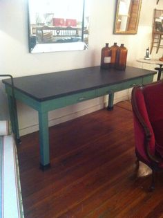 Vintage Industrial Lab Table by coloniaantiques on Etsy