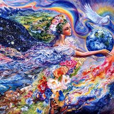 Earth Angel by Josephine Wall ..had this print for my girls along with its nighttime counterpart:)