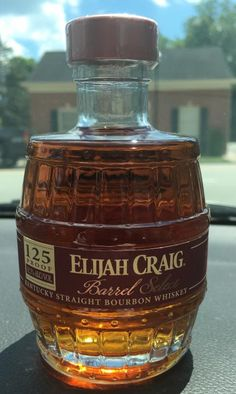 "A ""grenade"" 200-ml bottle of a limited distillery-only release of Elijah Craig Barrel Select (125 proof)"