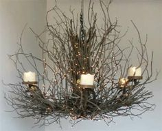 A Thing of Beauty (Resin Pillar) Twig Rustic Chandelier, Log Cabin Lighting, Country Kitchen Chairs and more.