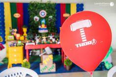 Decoração Festa Infantil - OS VINGADORES - Leandro Ribeiro Photography