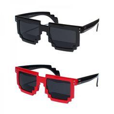 Óculos unissex nerd geek Pixel retrô 8-bit