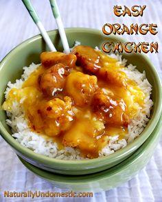 KID FRIENDLY! YUM! Easy Orange Chicken Recipe from Naturally Undomestic #typeaparent
