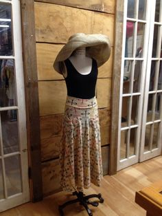 Effie's Heart skirt, organic bamboo tank, hat handmade in Madagascar.