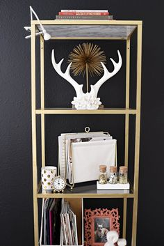 Awesome A glam and gold home office featuring office supplies and decor from Target The gallery