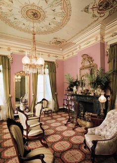 A Painted Lady Victorian Parlor