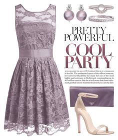 """Pastel Party Dress 2796"" by boxthoughts ❤ liked on Polyvore featuring Prada, Carvela and Nadri"
