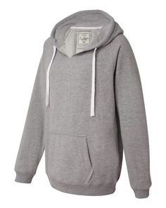 Ladies Sueded V-Neck Hooded Sweatshirt (FREE SHIPPING)