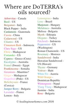 Where are Doterra's oils sourced?