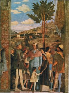 Meeting of Duke Ludovico II Gonzaga with Cardinal Francesco Gonz(fragment) by @artistmantegna #highrenaissance