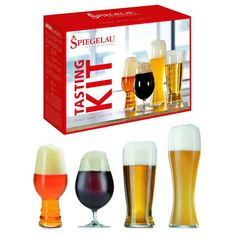 Specifically designed to bring out the full flavour and nuance of each type of #beer the #Spiegelau beer tasting kit makes the ultimate gift for any beer lover.
