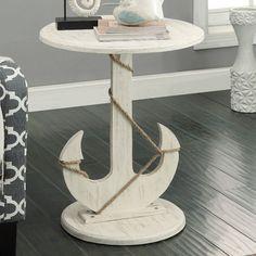 Barlow Nautical Anchor End Table   50 Nautical Inspired Ideas For Home Decor   Inexpensive Nautical Decor   DIY Home Decor   theMRSingLink
