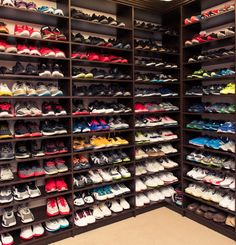 The Best Organized Sneaker Closets Featured By the Coveteur: Udonis Haslem and Faith Rein Haslem | coveteur.com