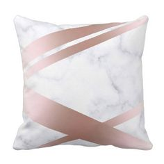 Hoppy happy easter bunny stripes and plaid pattern gift tags elegant stylish girly rose gold marble look pink throw pillow elegant gifts gift ideas custom negle Images