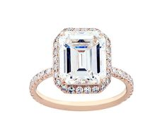 Rose Gold Emerald Cut Engagement Ring...I think my heart literally just skipped a beat. THIS IS MY RING