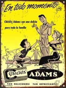 publicidad antigua chiclets Adams -