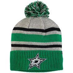 80a75aba332 Men s Dallas Stars Fanatics Branded Gray True Classic Collegiate Cuffed  Knit Hat with Pom