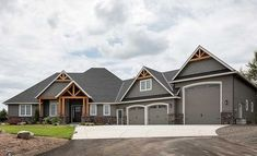 Decorative wood trim enhances this beautiful Craftsman home plan.Inside, a well-… Decorative wood trim enhances this beautiful Craftsman home plan. Inside, a well-laid out floor. Garage House Plans, Craftsman House Plans, House Floor Plans, Boat Garage, Rambler House Plans, Metal House Plans, Basement Floor Plans, Walkout Basement, Ranch House Plans