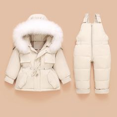 Children Down Coat Jacket+jumpsuit Kids Toddler Girl Boy Clothes Down 2pcs Winter Outfit Suit Warm Baby Overalls Clothing Sets Girls Down Coat, Boy Outfits, Winter Outfits, Toddler Jumpsuit, Baby Snowsuit, Solids For Baby, Baby Overalls, Snow Outfit, Baby Warmer