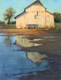 Jessie's Barn Reflection by Kim Lordier Pastel ~ 16 x 12