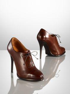 Nelana Calf Oxford Booties  (Ralph Lauren)