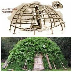 Survival Dome Shelter. Have you ever built one? #Survival #Bushcraft #bushcraftprojectscrafts #bushcraftideas