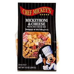 Chef Mickey's Mickeyroni and Cheese Mix $5.95 - perfect for serving with hot dogs.