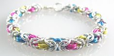 All for Love Braid Chainmaille Bracelet in by dancingleafstudios