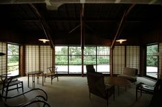 Former Fusaichiro Inoue House / Antonin Raymond Japanese Architecture, Contemporary Architecture, Japanese House, Japanese Style, My Dream Home, House Design, Windows, Traditional, Living Room
