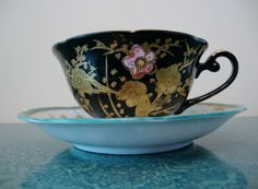 Hey, I found this really awesome Etsy listing at https://www.etsy.com/listing/198236924/ohashi-teacup-and-saucer-black